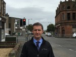 Campaigning for a new traffic filter at Mungalhead Road