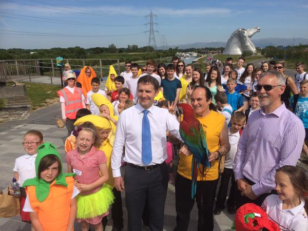 Delighted to join pupils from St Mungo's and Carmuirs Primary for the Big Fit Walk at the Helix
