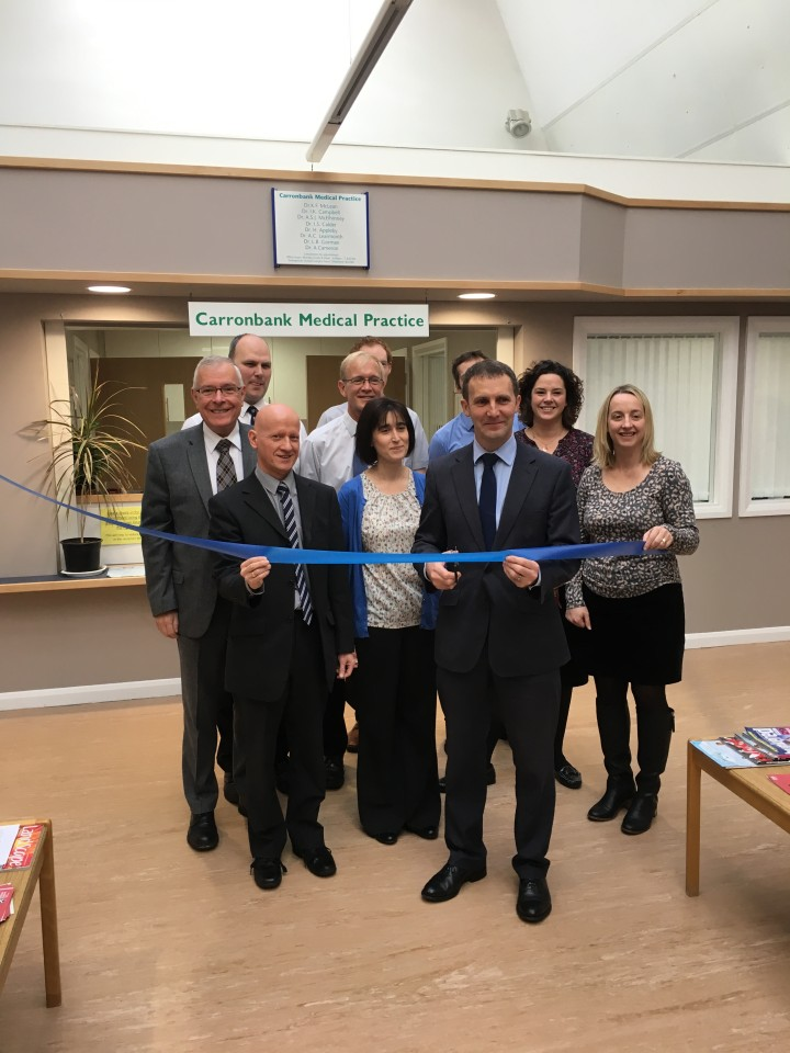 Opening of the new facilities at the Carronbank Medical Practice in Denny