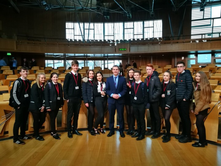 DENNY HIGH VISIT TO PARLIAMEN