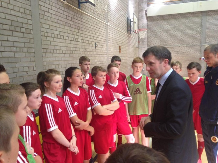 Visit to Larbert High School