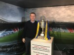 Visiting the Scottish Cup whilst on display at the Howgate Centre