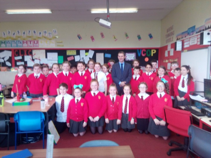 Great Q and A session at St Francis Xaviers  Primary in Falkirk