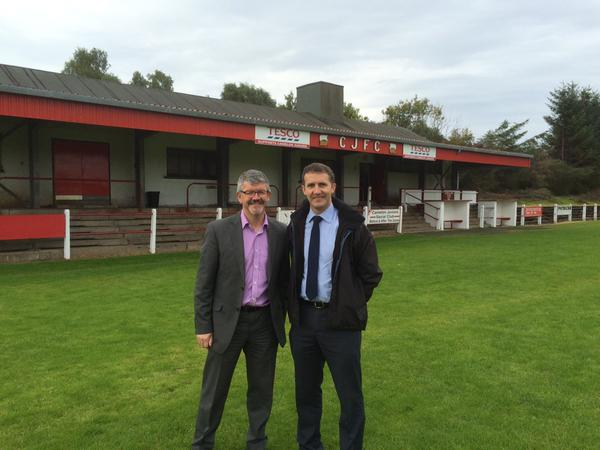 Meeting new Chairman of Camelon Juniors, Colin Wilkinson