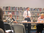 Speaking at the Wider Access to School Project agm at Denny High