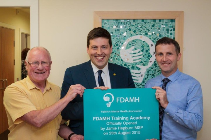 At opening of FDAMH Training Academy with Jamie Hepburn MSP and Dennis Canavan