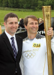 Michael welcomes Olympic Torch at Falkirk Wheel