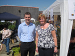 CALEDONIAN CLUBHOUSE T IN THE GARDEN WITH CLLR CECIL MEIKLEJOHN