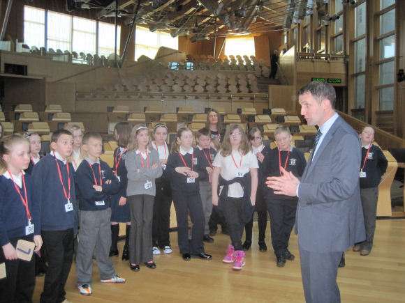 LARBERT VILLAGE VISIT TO PARLIAMENT