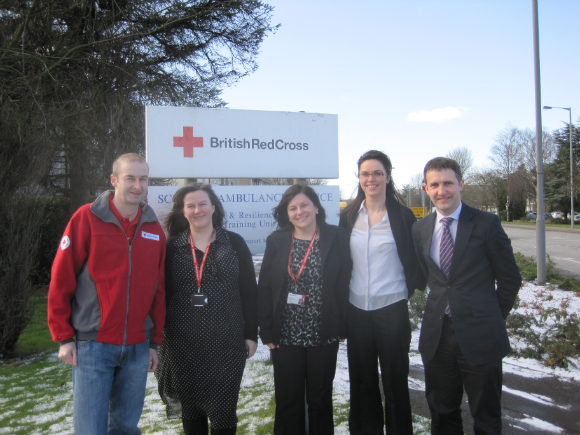 Red Cross Centre visit in Falkirk