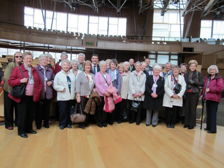 Michael hosting a visit to parliament from the Falkirk Association of Retired People