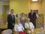 Michael meeting carers at the Falkirk Carers Centre as part of Carers Week 2013