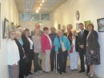 Opening James Allan's exhibition along with the Silver Bairns at Falkirk Lesser Town Hall