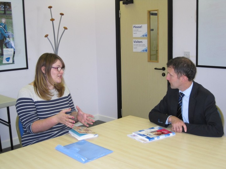 Meeting with Jenni McKechnie of Equal Futures at Callendar Business Park