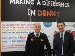 MEETING STAFF AT SAINSBURYS IN DENNY
