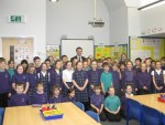 Doing a question and answer session with P5 pupils at Kinnaird Primary in Larbert