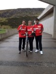 HIGHLIGHTING SPORTS RELIEF 2014 WITH COLLEAGUES SHONA ROBISON AND HUMZA YOUSAF
