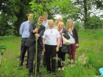 Planting a tree at Larbert Woods to celebrate the 25th year of the Forth Valley HD group