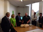 MICHAEL ATTENDS DEFRIBULATOR TRAINING AT ASDA FALKIRK