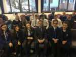 Meeting pupils at Larbert High after doing a q&a on prison policy