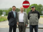 Success at the removal of the bus Gates at Allandale with Ivan Mochrie and Charlie O'Brien
