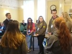 MEETING REPRESENTATIVES FROM LOCAL YOUTH ORGANISATIONS AT CARRONVALE HOUSE. LARBERT