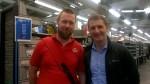 Visit to Falkirk Sorting Office with postie David Reid