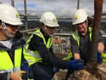 Inspecting the work being carried out at the top of the Falkirk Steeple
