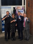 At the launch of the Headway ID Card at the Salvation Army Hall in Larbert