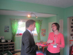 MICHAEL VISITS ABERLOUR FAMILY CENTRE IN LANGLEES