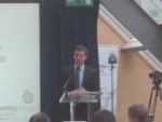 MICHAEL SPEAKING AT THE HEALTHY LIVING AWARDS AT THE FALKIRK WHEEL