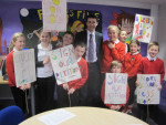 Discussing the Global Campaign for Education with pupils from Hallglen Primary