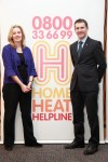 Visting the display of the Home Heat Helpline at Parliament