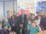 Meeting Pupils at Kinnaird Primary in Larbert