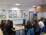 Michael meets with Modern Studies class at Falkirk High