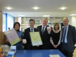 Michael at launch of Health Start vitamins at local pharmacy with fellow Falkirk MSP Angus MacDonald