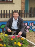 Michael planting at the Westfield Garden with the Thornwood TRA