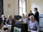 Meeting staff on a visit to Denny Citizens Advice Bureau