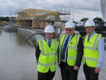 Michael with Falkirk East MSP Angus MacDonald and Mike King from The Helix at the Lagoon in the Helix Park