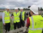 Photo Call at The Kelpies with Falkirk East MSP Angus MacDonald and Mike King from The Helix - part of a visit to the Helix Project