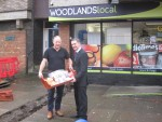 PAYING A VISIT TO THE WOODLANDS STORE IN MAJORS LOAN, FALKIRK