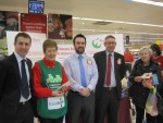MEETING UP WITH VOLUNTEERS AT THE FOODBANK AT TESCO, FALKIRK