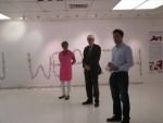 Opening Childrens Art Exhibition at Delta Studios in Larbert