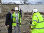 Visiting Dollar Park to inspect work being done in the Walled Garden